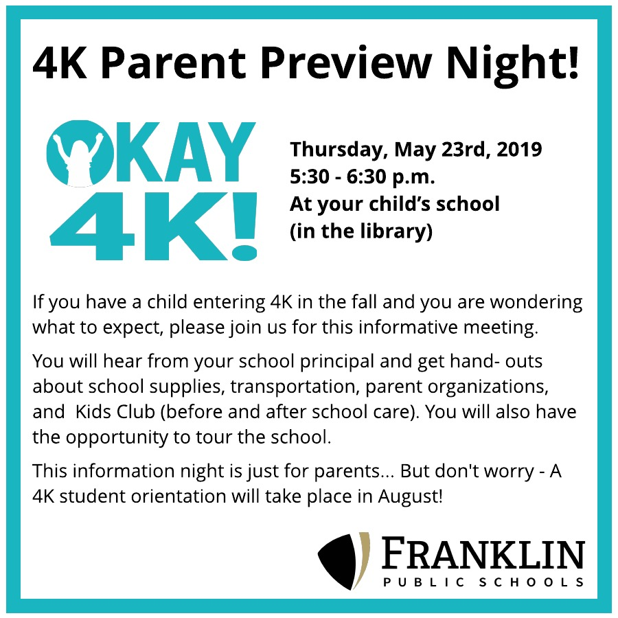 Parent Preview Night Announcement