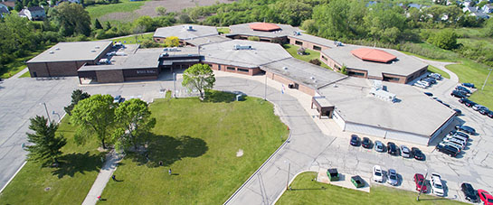 Aerial view of Forest Park Middle School